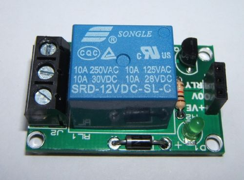 RKRelay1 Relay Module - Great for Atmel, Arduino & Raspberry PI - Self Build Kit